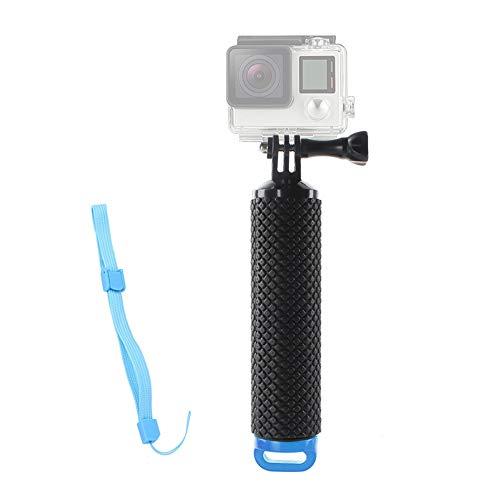 Schwimmer Handgriff,Wasserdichte Schwimmender Unterwasser Hand Griff Strukturierter Rutschfest Schaumstoff Easy Grip für Sport Kamera Action-Kamera Hero 5/3 mit Verstellbare Handschlaufe 78cm Schwarz
