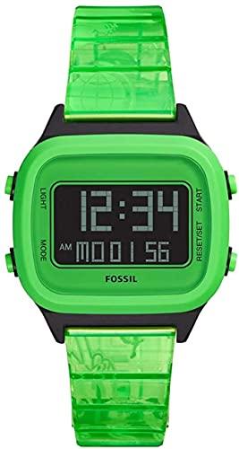Fossil Reloj Digital para Hombres de Cuarzo con Correa en Plstico FS5677