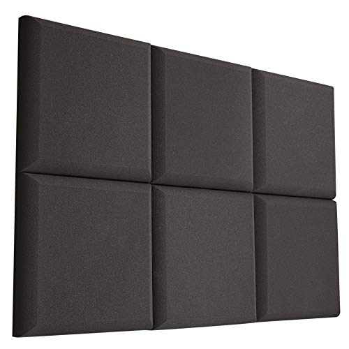 VACOUSTIC 6 Pack - Acoustic Studio Foam Round C-Panel 2 X 12 X 12 Sound Absorber Soundproofing Wall Foam Acoustic Panels Noise Reduction Acoustic Treatment Acoustic Control Sound Dampening