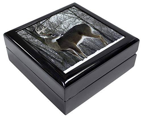 Advanta - Jewellery Boxes Deer Hirsch im Schnee Andenken/Schmuck Box Weihnachten Geschenk