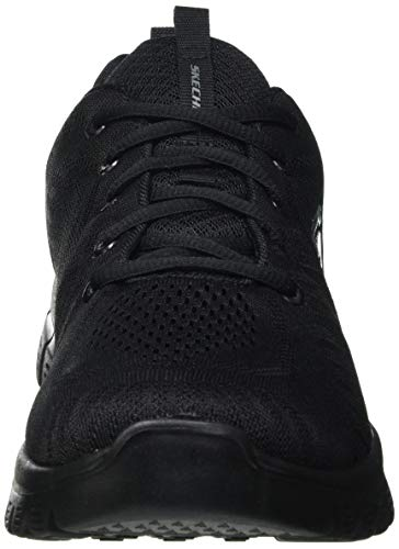 Skechers Graceful-Get Connected, Zapatillas Mujer, Negro (BBK Black Mesh/Trim), 39 EU