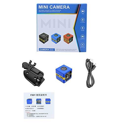 Kleine HD-Sport-DV-Kamera 1080P FX01 Sport-Außenkamera Kunststoff-Bewegungserkennung Infrarot-Nachtsicht - Blau