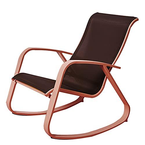 LIXIONG-sillón Mecedora, Salón Silla Sillón con Ergonómico Diseño, Sillón Reclinable Relajante Asiento por Sala de Estar Cuarto, Apoyo Carga 150 kg, 3 Colores (Color : Red, Size : 91x30x87cm)