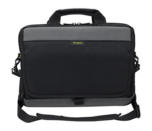 Targus CityGear 12-14-Inch Slim Topload Laptop Commuter Messenger Bag with Shoulder Strap, Black (TSS866EU)