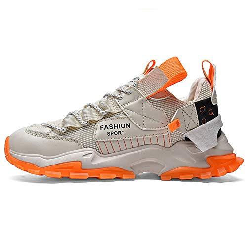 Yuui Zapatillas de deporte para hombre, informales, con amortiguación de aire, transpirables, antideslizantes, ligeras.