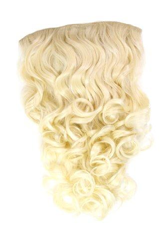 Extension à clipper composée de7 crochets, Perruque ¾, frisée, de couleurs différentes, longue 50 cm, H9503-613