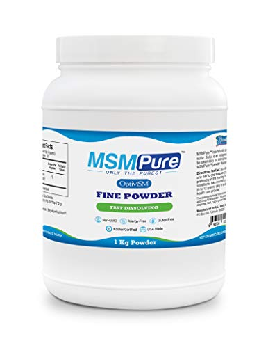 Kala Health MSMPure Fine Powder, Fast Dissolving Organic Sulfur Crystals, 99% Pure Distilled MSM Supplement, Made in USA, 2.2 lbs