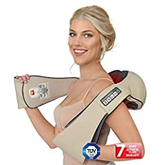 Neck massager THE ORIGINAL Donnerberg® Munich Shiatsu massageshaldmanmassage + effectieve VIBRATION 4D nekmassage met warmte TÜV 7 jaar garantie*