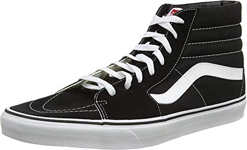 Vans, Zapatillas Altas Unisex Adulto, Negro (Black/White), 38.5 EU