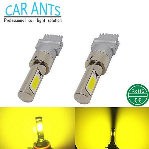 Car Ants Auto Parts 3156 Lot de 2 ampoules LED pour feux stop/de recul 12/24 V extrêmement lumineuses 30 W 1400 lm Jaune doré