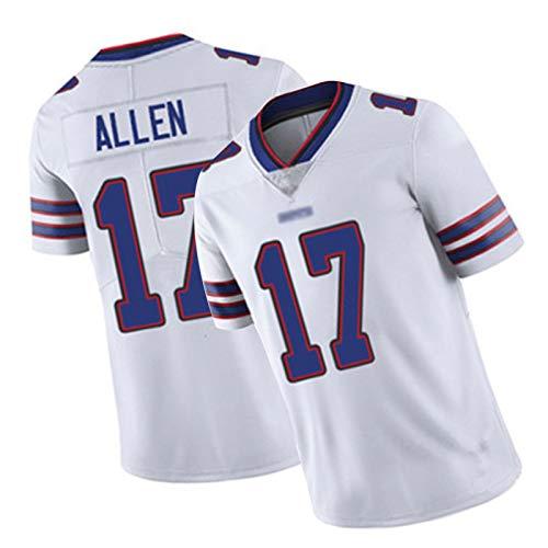 WHUI Allen Rugby Jersey 17#, Chaleco Deportivo de fútbol para Hombres, Letras y números Bordados, adecuados para el Entrenamiento Diario White-XXXL