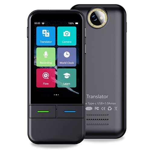 Language Translator Device, Two Way Handheld Translator Real Time with Recording Translation Support 138 Languages for Travel Learning Business Trip