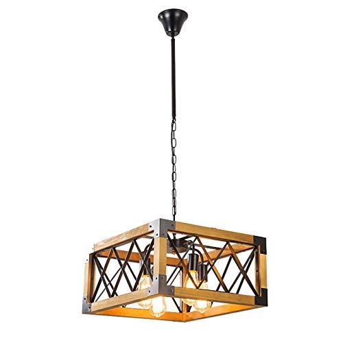 FFF-Iluminación de Techo Interior Creativo Sencillo 4 Cabezas de la lámpara Home Hotel Cafe Restaurante Bar American Retro Estilo Industrial Loft Personalidad de la lámpara Nivel de energía 【A ++】