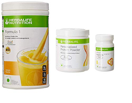 Herbalife Nutrition F 1 Mango F 3 Protein Powder and Afresh Lemon