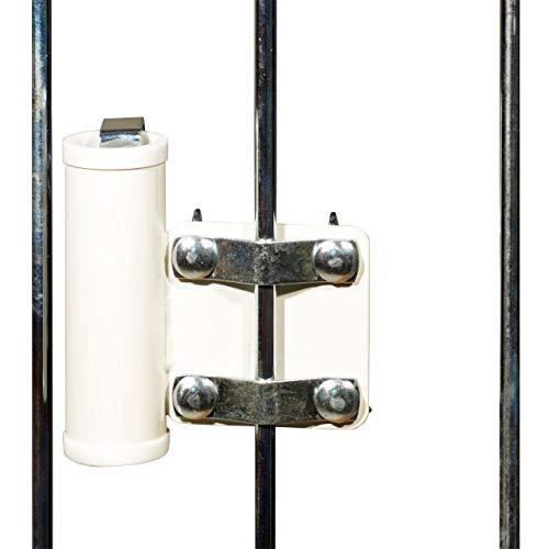 Videx-Sonnenschirmhalter für Balkongitter, weiß, Ø 35mm