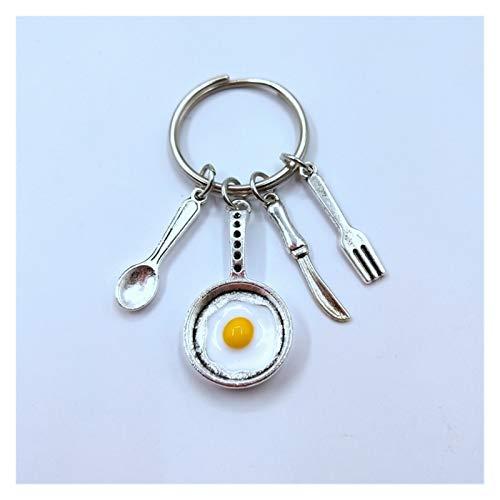 Tderloi Schlüsselbund Koch Keychain Chef Geschenk Koch Schlüsselanhänger Spiegelei Keychain Besteck Keychain Küche Geschenk
