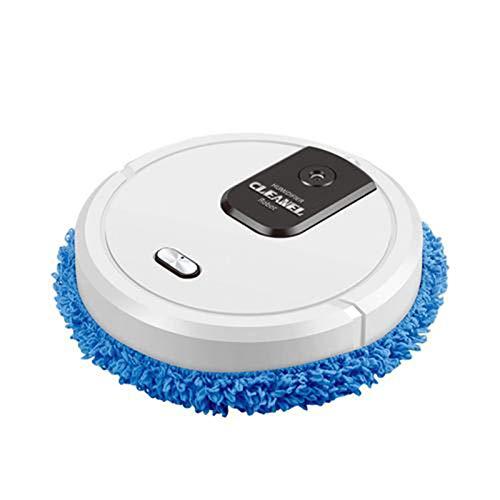 Augustusws Robot Aspirador, 3.7V/5W Partes de aspirador de pelo de mascotas de doble uso automático máquina trapeador con batería recargable de 1500 mAh y 3 luces moradas para el hogar