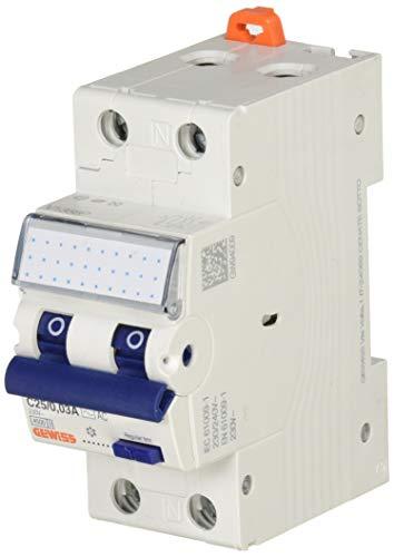 Gewiss - Interruttore Magnetotermico Differenziale Compatto - Mdc 45-1P+N Curva C 25A Tipo AC Idn=0,03A - 2 Moduli