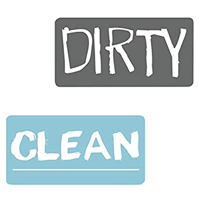 Nertpow Dishwasher Clean Dirty Magnet Sign Sided Magnetic Reversible for Dishwasher Washing Machine Dirty Clean Magnet Label Sign ?Gray Blue?