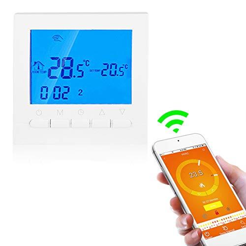 Asixx Termostato, Termostato Digital WiFi, con Pantalla LCD,...