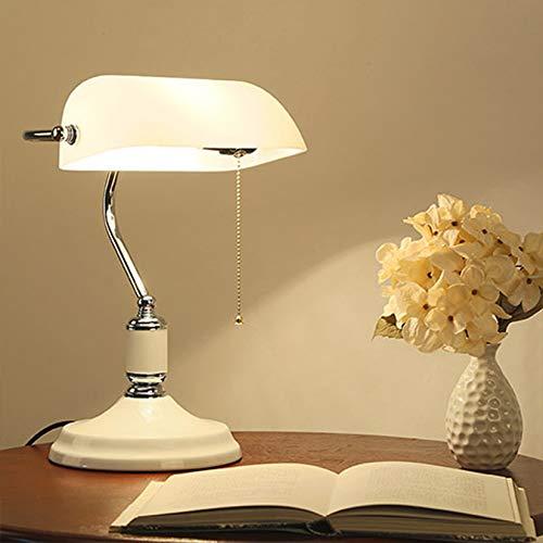 HHYHOME Moda Creativa banquero de Escritorio Ligero Moderno Minimalista Lámpara de Mesa Sala de Estudio Lámpara de Noche de Oficina para Dormitorio Sala de Estar