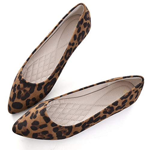 Slduv7 Damen Classic Fashion Leopard Spitzen Zehenspreizer, Braun (braun), 38 EU