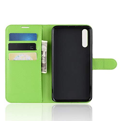 TenYll Hülle für Huawei Honor Magic 2,Wallet Tasche PU Schutzhülle [Premium Leder] [Ultra Slim] [Card Slot] [Ständer] Flip Wallet Hülle Etui für Huawei Honor Magic 2 -Grün