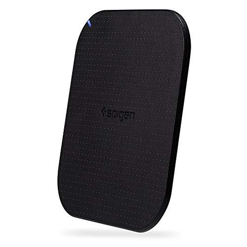 Spigen Essential F302W [4mm Ultra Slim] Cargador Inalámbrico para iPhone XS/XS Max/XR/X/8/8 Plus, Galaxy Note 9/8/S8/S8 Plus/S7 Edge y Todos los teléfonos Wireless Charging