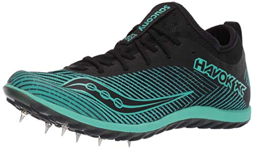 Saucony Women's Havok XC2 Track and Field Shoe, Black/Green, 7 Medium US