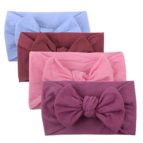 Huhu833 Baby Stirnbänder, Cute Baby Kleinkind Infant Circle Stirnband Stretch Haarband Headwear (4 Pcs D)