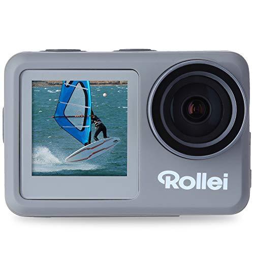 Rollei Action-Cam 9s Plus I 4K 60fps Unterwasserkamera mit Selfie-Display, Bildstabilisierung, Zeitraffer, Slow-Motion, Loop Funktion I Wasserdicht bis 10m
