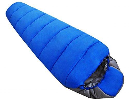 Xin.S Tous Les Sacs De Couchage De Momies De Saison Camping Parfait Trekking Voyage De Sac à Dos. Coque Résistante à L'eau (bleue Et Orange),Blue-220*80cm
