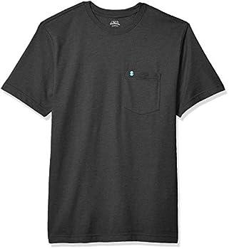 IZOD Men s Saltwater Short Sleeve Solid T-shirt With Pocket black X-Large  Regular