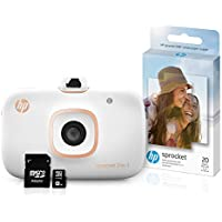 HP Sprocket 2-in-1 Portable Photo Printer & Instant Camera Bundle with 8GB MicroSD Card and ZINK Photo Paper