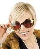 TH-MP 60er 70er Jahre Partybrille Gold metallic XXL Shades Kostüm Zubehör Outfit Accessoire...