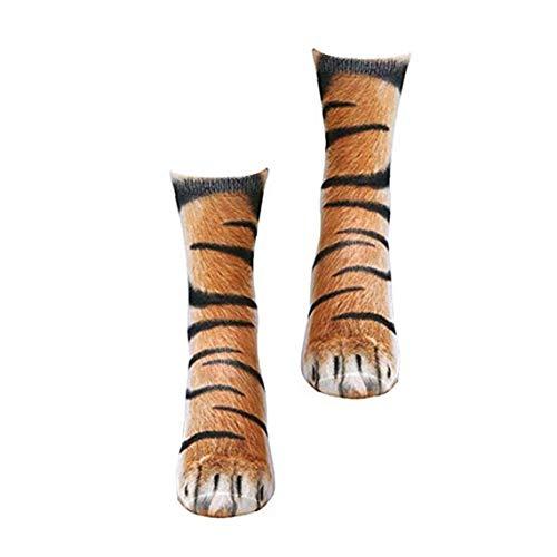 ZYCX123 Erwachsene Casual Socken kreative 3D-Druck Tiger Footshoes Form Socken Multi-Funktions-Simulation Tier Footshoes Socken Bekleidung Zubehör 1Pair Bekleidung Zubehör