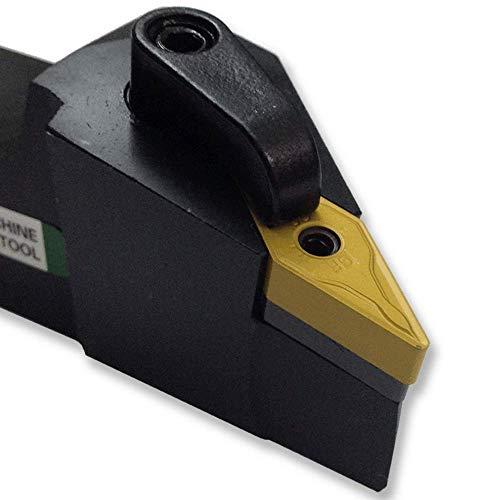 Maifix MVJNL2020K16 Herramientas de corte de torno CNC 20 mm Barra de insertos de carburo sólido de 25 mm Cortador Portaherramientas de torneado externo