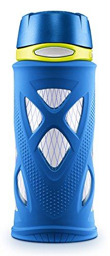 ZULU Shorty Kids Tritan Plastic Water with Silicone Sleeve, 16 oz, Blue