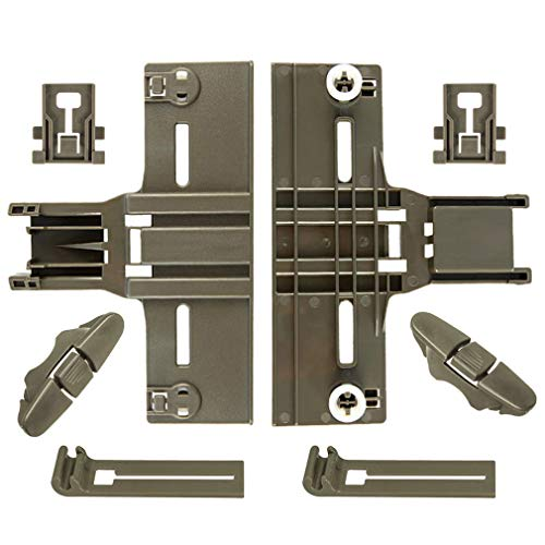 8 Packs UPGRADED W10350376(2) W10195840(2) W10195839(2) W10508950(2),Dishwasher Top Rack Adjuster for Kenmore elite Kitchenaid Whirlpool Kitchen Aid,W/ 0.9 In Diameter Wheels.Replacement w10350374 665