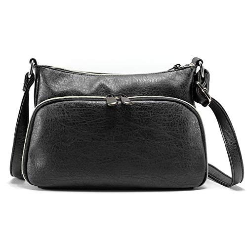 ❤Material: This woman multi-pocketed and multi-functional crossbody bag is made of high-quality PU leather, polyester cotton lining; Classic and simple design, stylish style; Durable and fashionable. ❤Adjustable Shoulder Strap: Offers versatile carry...