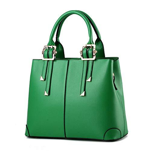 Mode PU Frauentasche, Cross-Body-Umhängetasche, einfache und großzügige Tasche mit großem Fassungsvermögen, 32x25x12,5 cm, für Einkäufe, Partys und...