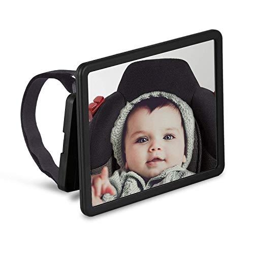 Wicked Chili Rücksitzspiegel Baby, Autospiegel Rücksitz Babyschale Auto Rückspiegel XXL Baby Sicherheitsspiegel geeignet für Maxi Cosi, Hauck, Britax, Cybex (Bruchsicher, schwenkbar, für alle KFZ)
