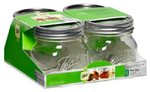 Ball Collection Elite Wide Mount 16Oz Pint Jars (Pack of 4)