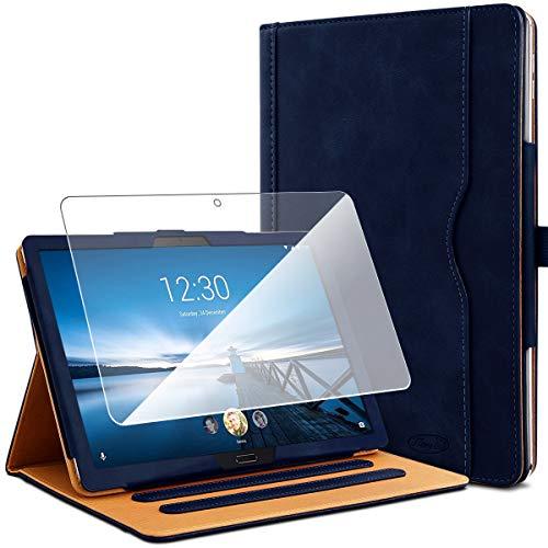 KARYLAX - Juego de funda de protección de color azul y 1 película protectora de cristal templado para Lenovo Tab M10 HD de 10,1 pulgadas