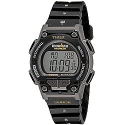 professional Timex T5K195 Iron Man Endur 30 Full Size Black / Yellow Resin Strap Shock Men's Watch