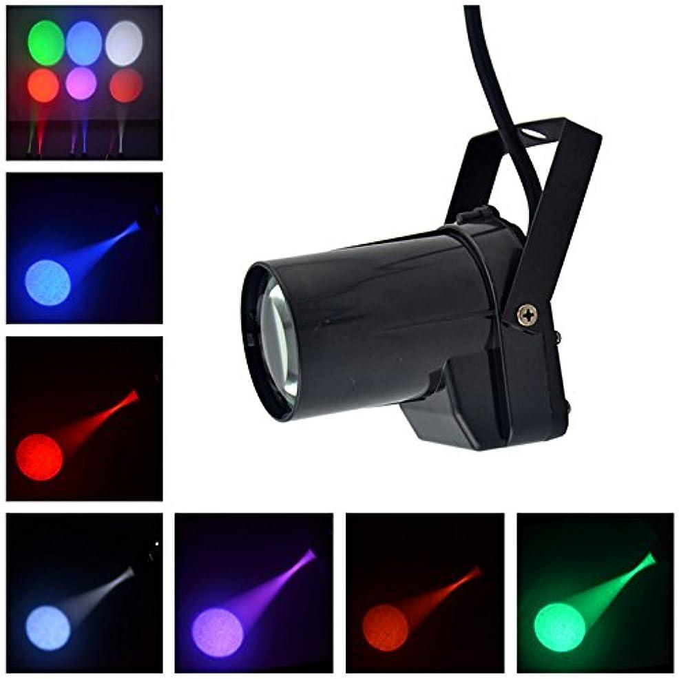 オアシスメガロポリスピカリングミニ5W強い単色LED家の照明バーKTV DJ舞台照明 赤、緑、青、紫、黄色 6スポットライト/グループ LE-M01