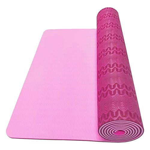 Check Out This Oyov2L Eco-Friendly Anti-Slip Body Building Fitness Exercise Pilates Yoga Mat Cushion Durable Fitness Equipment Rose Red