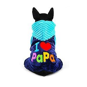 Manteau Vêtement Hoodie avec écriture mignon drôle «I Love Mama» / «I Love Papa» Automne Hiver Pour Chien Chiot