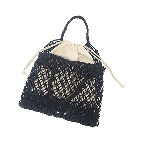 ZEREA Embrague Compile Bag Monedero, Mujeres Algodón Net Bolsa de Hombro Hilo Pulsera Bolso de Embrague Bolso de Envolvente Grande Cartera Verano Playa Bolsa