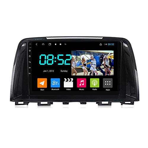 Foof Autoradio 2 DIN Android Bluetooth Radio De Coche 9'' Pantalla Táctil WiFi Plug and Play Completo RCA SWC Soporte Carautoplay/GPS/Dab+/OBDII para Mazda 6 2012-2017,Octa Core,4G WiFi 4G+64G
